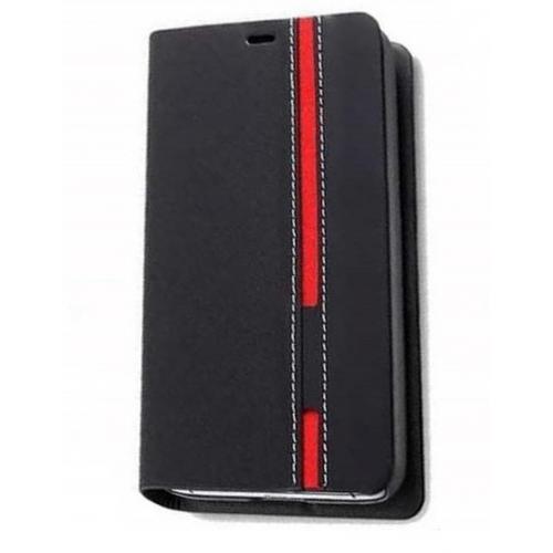 Realme 5 Pro Θήκη Flip Stripe (Μαύρη)