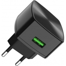 Hoco USB Wall Adapter Μαύρο (C70A)