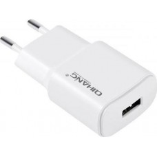 QIHANG USB Wall Adapter Λευκό (C7100)