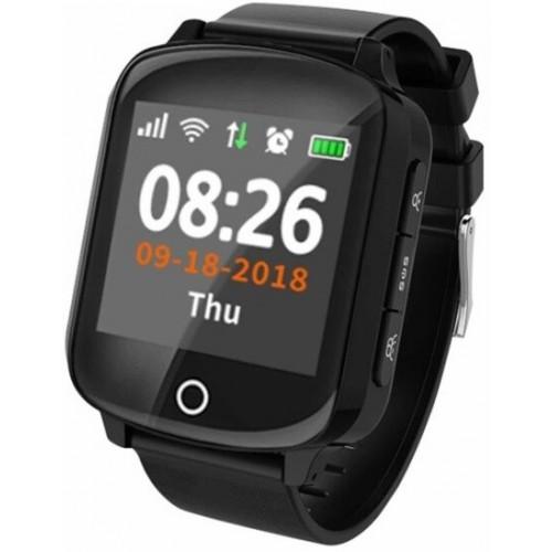 GPS Ρολόι Χειρός για Ενήλικες D200 - Βηματομετρητής - WATERPROOF IP68 (BLACK)