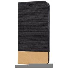 Θήκη Flip Canvas Mocca για Blackview A60 Pro (Σκούρο Καφέ)