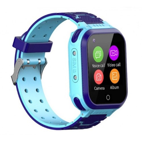 GPS Παιδικό Ρολόι Χειρός S48 4G-LTE  SOS - Βηματομετρητής IP67 (BLUE)