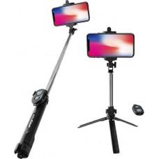 Lamtech Tripod Selfie Stick Μάυρο