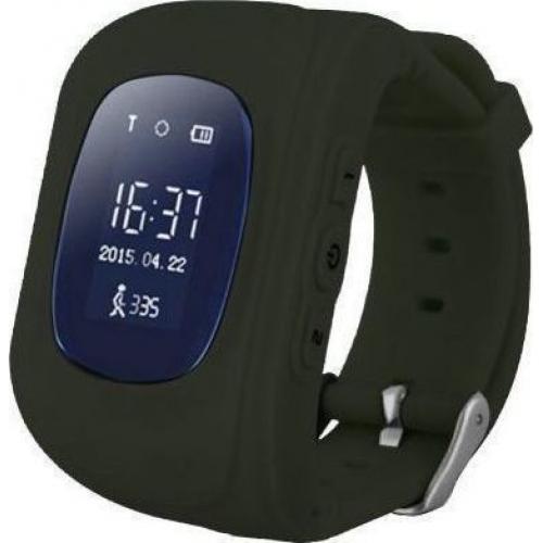GPS Παιδικό Ρολόι Χειρός Q50 SOS - Βηματομετρητής (BLACK)
