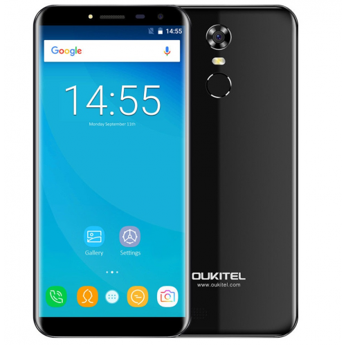 Oukitel C8 4G 16GB ROM (BLACK) 3000mAh + Θήκη Σιλικόνης