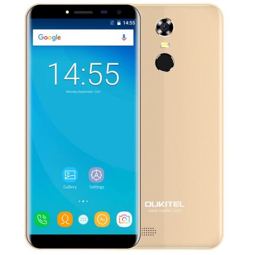 Oukitel C8 4G 16GB ROM (GOLD) 3000mAh + Θήκη Σιλικόνης