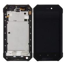 Οθόνη & Touch Panel & Frame Blackview BV4000 (BLACK)