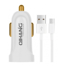 Qihang σετ Φορτιστής Αυτοκινήτου και Καλώδιο Φόρτισης Micro-USB 1m