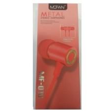 Ακουστικά Handsfree Mofan MF-010 (RED)