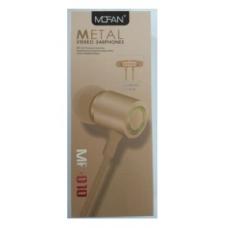 Ακουστικά Handsfree Mofan MF-010 (GOLD)