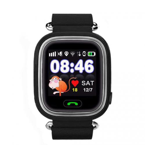 GPS Παιδικό Ρολόι Χειρός Q90 SOS - Βηματομετρητής (BLACK)