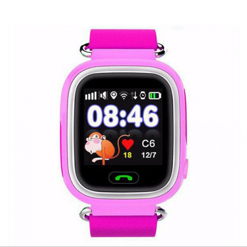 GPS Παιδικό Ρολόι Χειρός Q90 SOS - Βηματομετρητής (PINK)