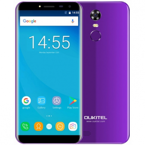 Oukitel C8 4G 16GB ROM (PURPLE) 3000mAh + Θήκη Σιλικόνης