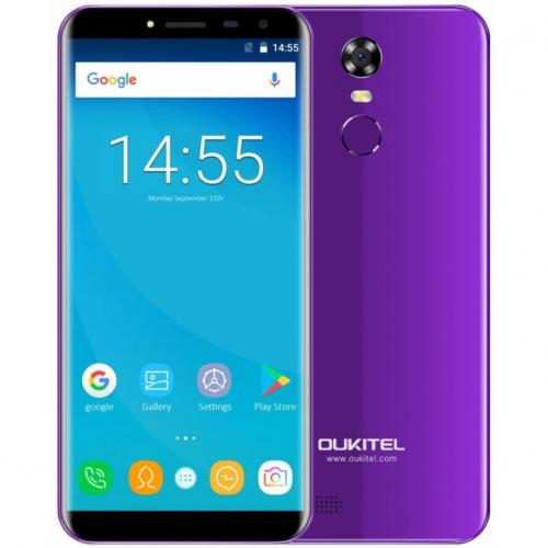Oukitel C8 4G 16GB ROM (PURPLE) 3000mAh + Θήκη Σιλικόνης