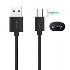 Zoji Z7 Long Micro-USB Καλώδιο Φόρτισης BLACK 1m