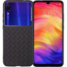 Square Box Back Cover Σιλικόνης Μαύρο (Xiaomi Redmi Note 7 / 7 Pro) OEM