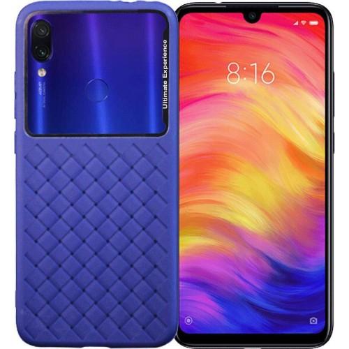 Square Box Back Cover Σιλικόνης Μπλέ (Xiaomi Redmi Note 7 / 7 Pro) OEM