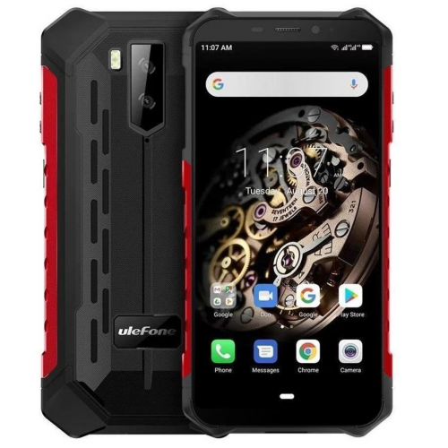 Ulefone Armor X5 3GB RAM 32GB ROM (RED) 5000mAh + Tempered Glass