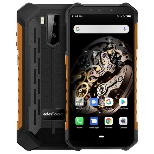 Ulefone Armor X5 3GB RAM 32GB ROM (ORANGE) 5000mAh + Tempered Glass